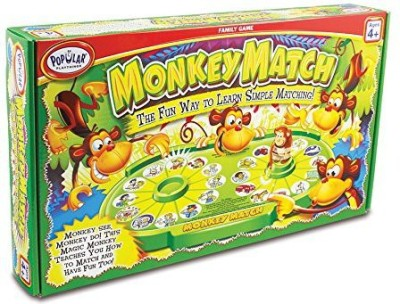 Popular Playthings Monkey Match Board Game
