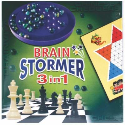 C J Enterprise Brain Stormer 3 In 1 Board Game