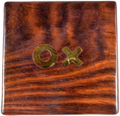 Craftuno Handcrafted Wooden Tic Tac Toe In Box Board Game