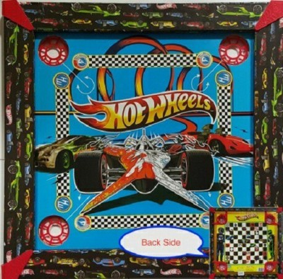 Kreative Kids 2 in 1 Carrom  17 inch    Hot Wheels Board Game available at Flipkart for Rs.379