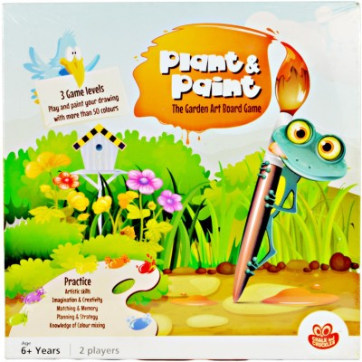 Chalk and Chuckles Piant & Paint The Garden art board Game Board Game