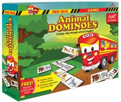Zephyr Red Bus Animal Dominoes Board Game