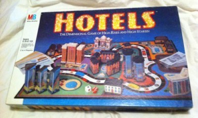 Milton Bradley Hotels Dimensional Of High Rises And High Stakes Board Game