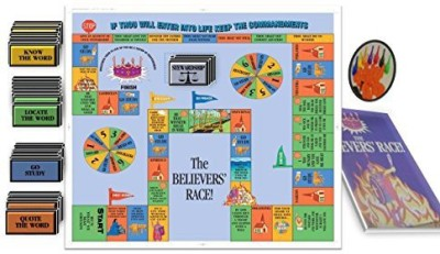 Believers, Race Bible For Beginners Intermediate And Advanced Bible Readers Board Game