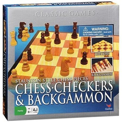 Cardinal Industries Chess/Checkers And Backgammon Set Board Game