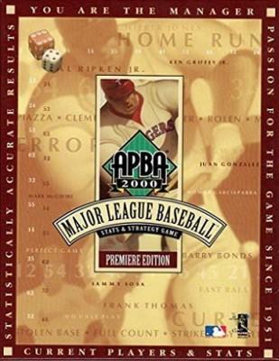 APBA Games Apba 2000 Major League Baseball Stats & Strategy Premiere Board Game