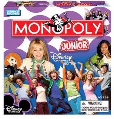 Monopoly Jr Disney Channel Board Game