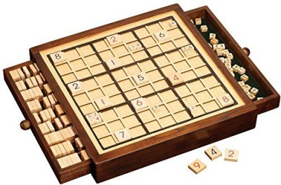 Bits and Pieces Deluxe Wooden Sudoku High Quality Wooden Table Board Game