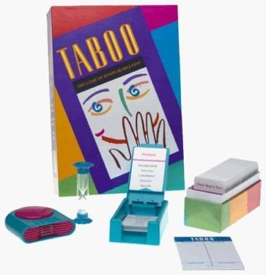 Milton Bradley Taboo The Of Unspeakable Fun (1989 Edition) Board Game