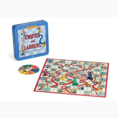 Winning Solutions Chutes And Ladders Deluxe In Classic Nostalgia Collector,S Board Game