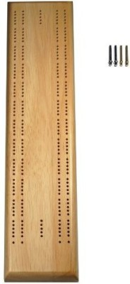 WE Games Solid Wood 2 Track Competition Cribbage Board Game