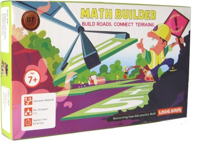 Logic Roots Educational Game MATH BUILDER Maths Strategy Board Game Thinking Gift