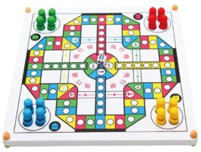meiminginc Full Of Fun Modern Ludo,Multifunctional Wooden S,Snake Board Game