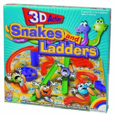New Entertainment 3D Snakes And Ladders Board Game