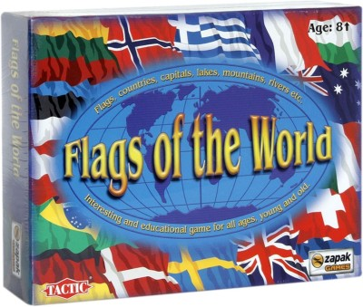 TACTIC Flags of the World Board Game