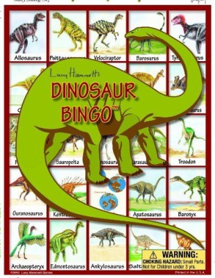 Lucy Hammett Games Dinosaur Bingo Board Game