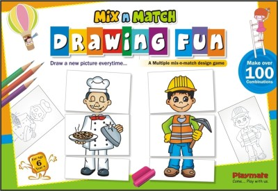 Playmate Mix N Match Drawing Fun Board Game