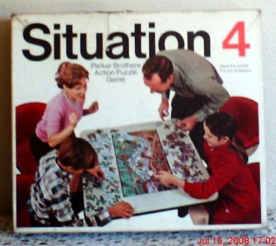 Situation 4 Vintage Parker Brothers 1968 Board Game