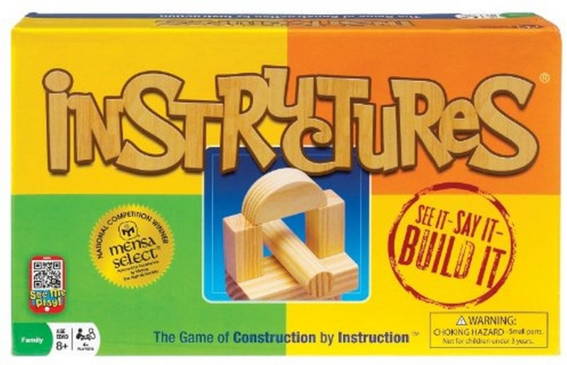 Ideal Ideal Instructures Wooden Block Construction Game Board Game