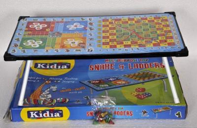 Fides Globe Kidia Multipurpose Table Snake and Ladders Board Game
