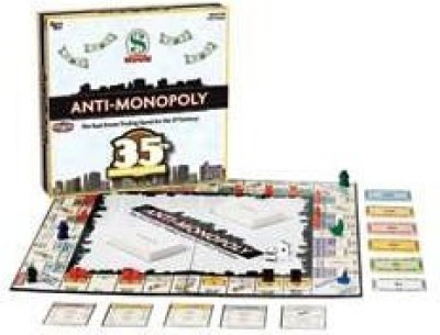University Games Antimonopoly 35Th Anniversary Edition Board Game