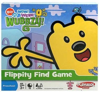 Milton Bradley Wow Wow Wubbzy Flippity Find Board Game