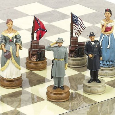 Bello Games New York, Inc. American Civil War Chessmen Extra Large Chessmen King 4 5/8