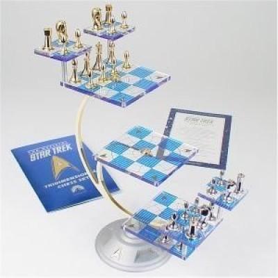 Star Trek Tridimensional Chess Set The Franklin Mint Board Game