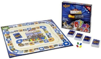 KLOO Games Kloo,S Learn To Speak Spanish Language Race To Madrid Board Game