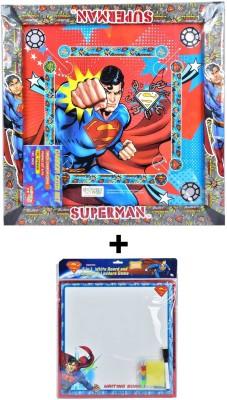 Superman Superman Carom Board with Writing Board Board Game