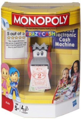 Monopoly Crazy Cash (Age 5 Years And Up)(For 24 Players) Board Game