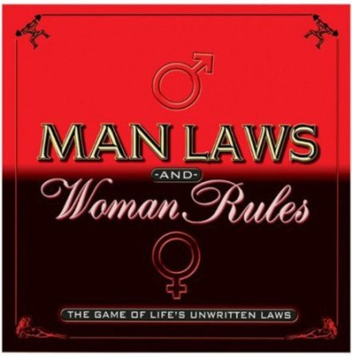 TDC Games Man Laws & Woman Rules Board Game
