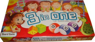Toyzstation 3 in One Board Game