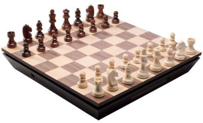 Best Chess Set Aria Chess Inlaid Wood With Weighted Wooden Pieces Board Game