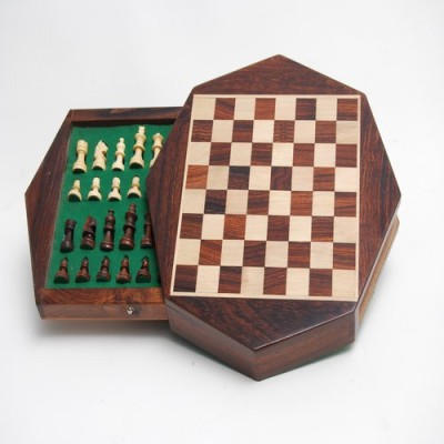Best Chess Octagon Wooden Chess Board Game