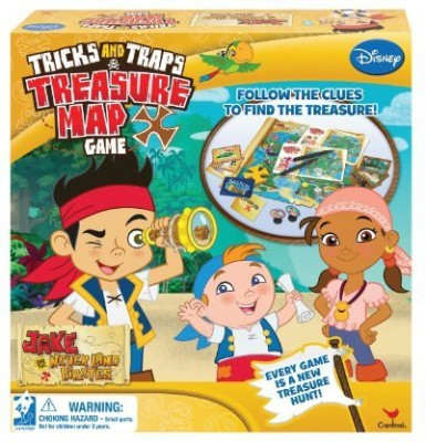 Cardinal Industries Jake Trick And Trap Treasure Map Board Game
