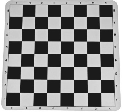 WE Games Black Silicone Tournament Chess Mat 1975 Inch With 225 Board Game