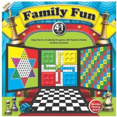 Ratnas Family Fun 4 In1 Board Game