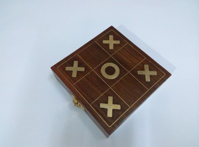 Kartique Wooden Tic Tac Toe ( Noughts and crosses ) Game For Kids Board Game