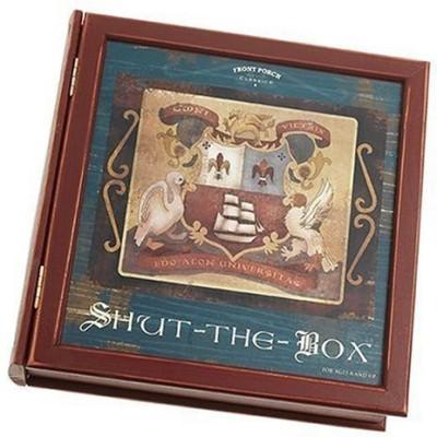 Front Porch Classics Shut The Box Bookshelf Board Game