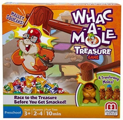 Mattel Whacamole Treasure Board Game