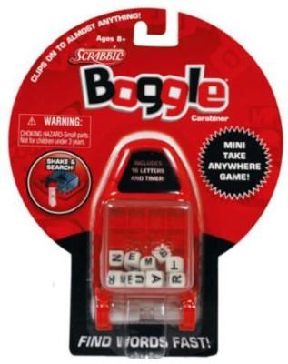 Basic Fun Scrabble Boggle Carabiner Keychain Board Game