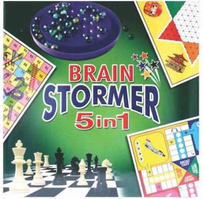 C J Enterprise Brain Stormer 5 In 1 Board Game