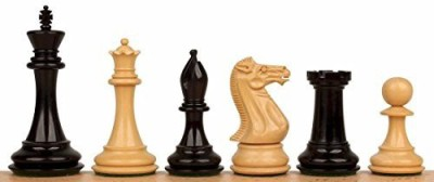 The Chess Store New Exclusive Staunton Chess Set In Ebonized Boxwood 35