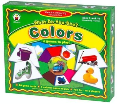Carson-Dellosa Publishing What Do You See Colors Board Game