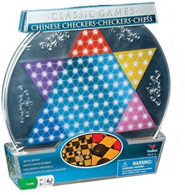Cardinal Industries cardinal metal chinese checker scheckers and chess Board Game