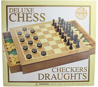House of Marbles Chess/Draughts Set Board Game