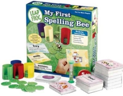 Cardinal Industries Leap Frog Spelling Bee Board Game