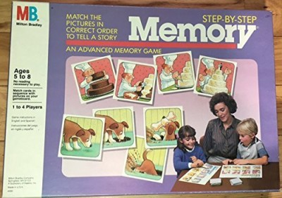 Milton Bradley Stepstep Memory (Ages 581 To 4 Players)Company 1986 Board Game