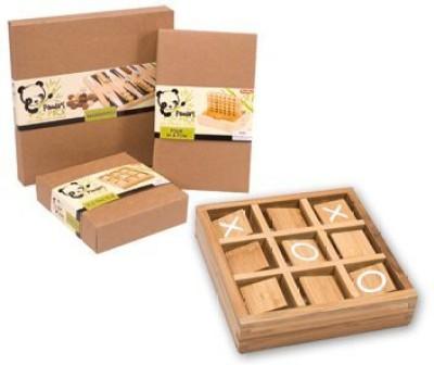 Schylling Bamboo Tic Tac Toe Board Game